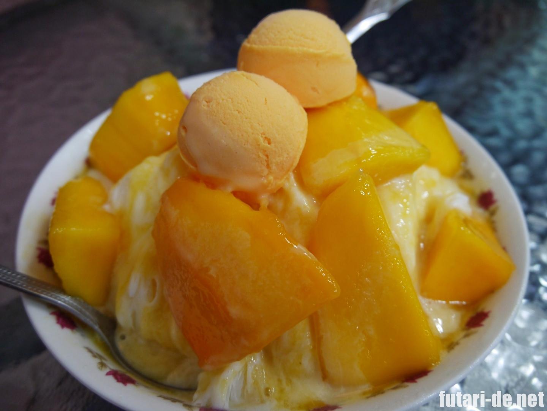 台湾 高雄婆婆冰のマンゴーかき氷