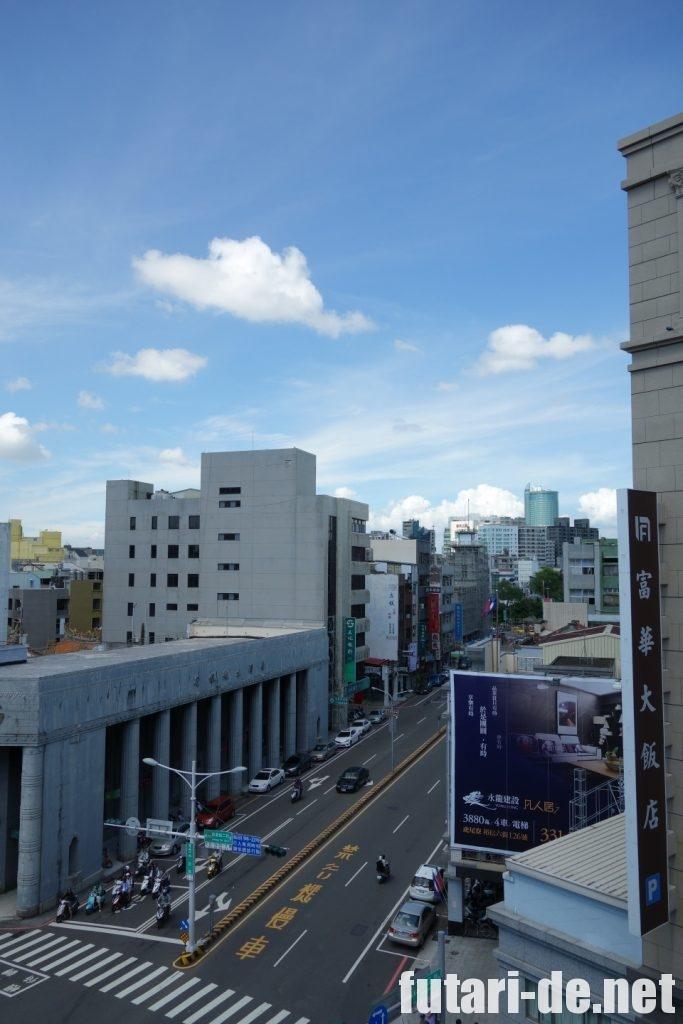 台湾台南にある林百貨店屋上からの眺め