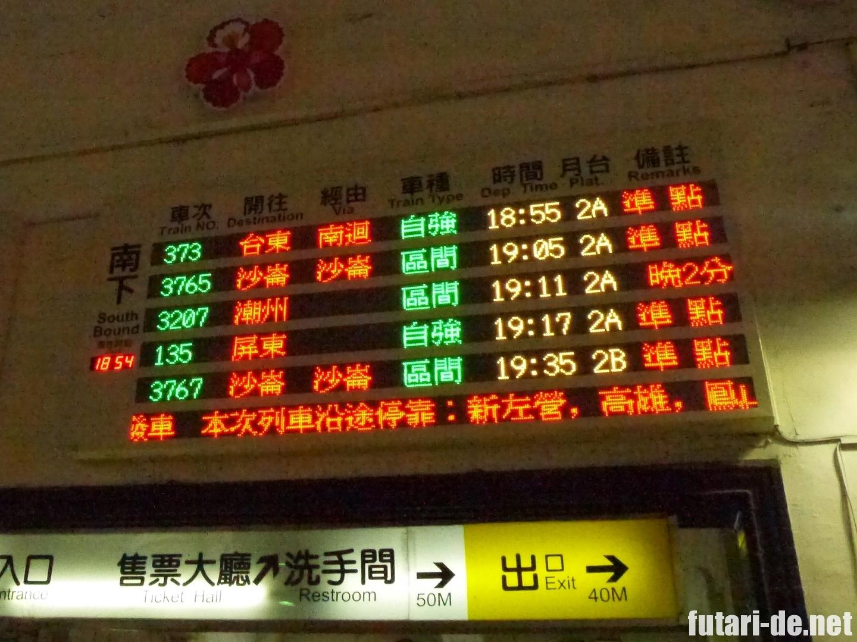 台湾 台鉄台南駅