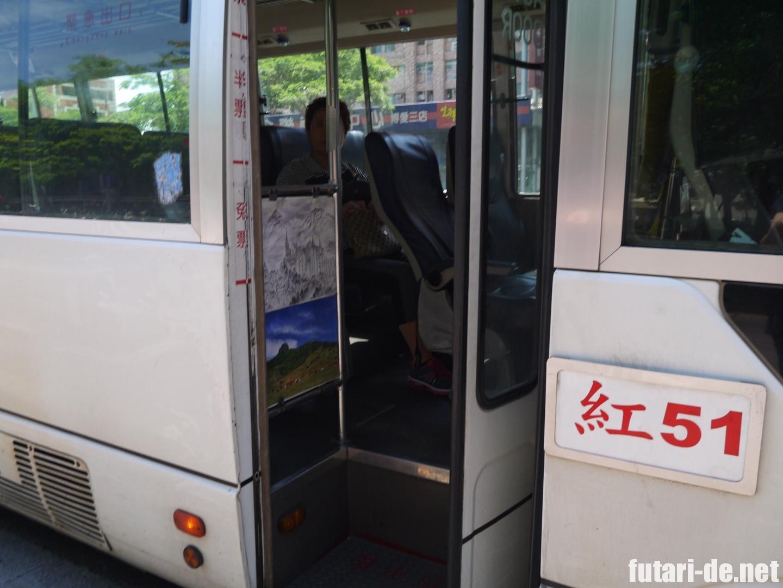 台湾高雄のバス(紅51)