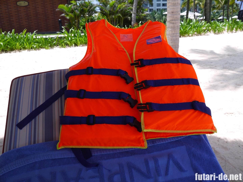ビンパールリゾートフーコック ビーチ ライフジャケット