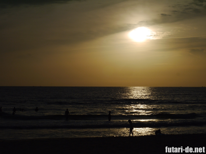 ベトナム ビンパールリゾート フーコック ビーチの夕陽