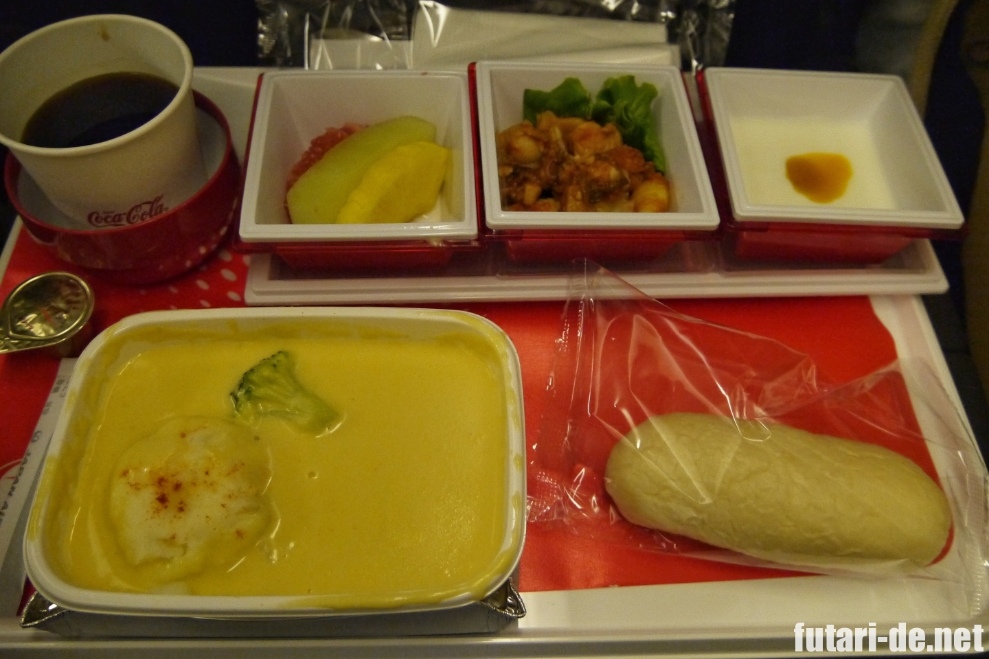 JAL シンガポール行 機内食