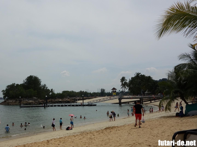 シンガポール セントーサ島 ビーチ