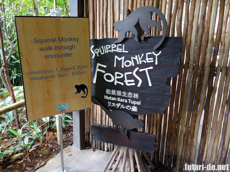 シンガポール リバーサファリ リスザルの森
