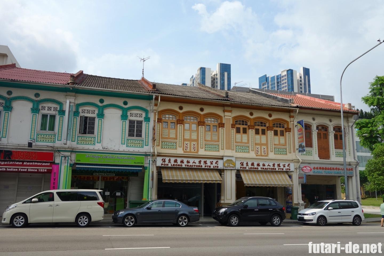 シンガポール プラナカン様式 ショップハウス