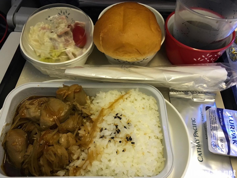 台湾 台北 キャセイパシフィック航空 機内食