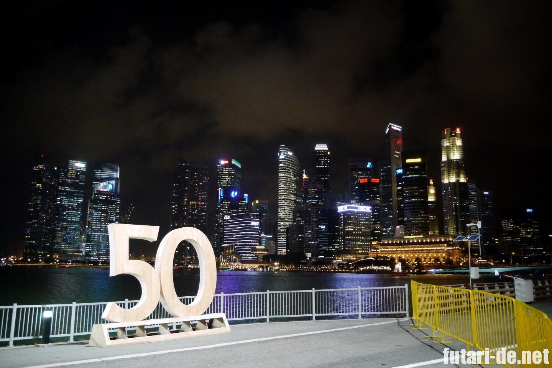 シンガポール 夜景 ベイエリア