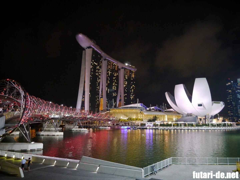 シンガポール 夜景 マリーナベイサンズ