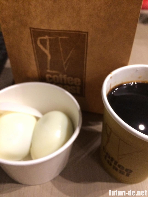 シンガポール Coffee&Toast ゆで卵