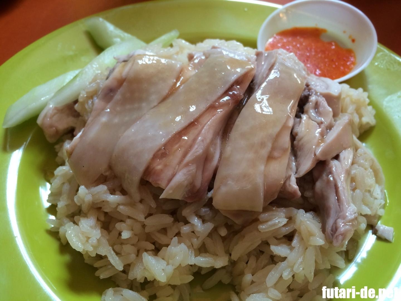 シンガポール マックスウェルフードセンター 天天海南鶏飯 チキンライス