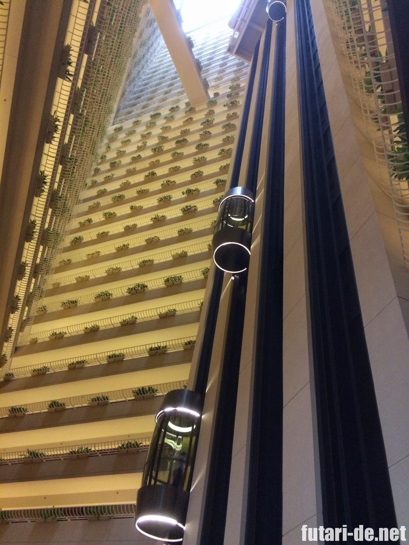 シンガポール パンパシフィックホテル エレベーター