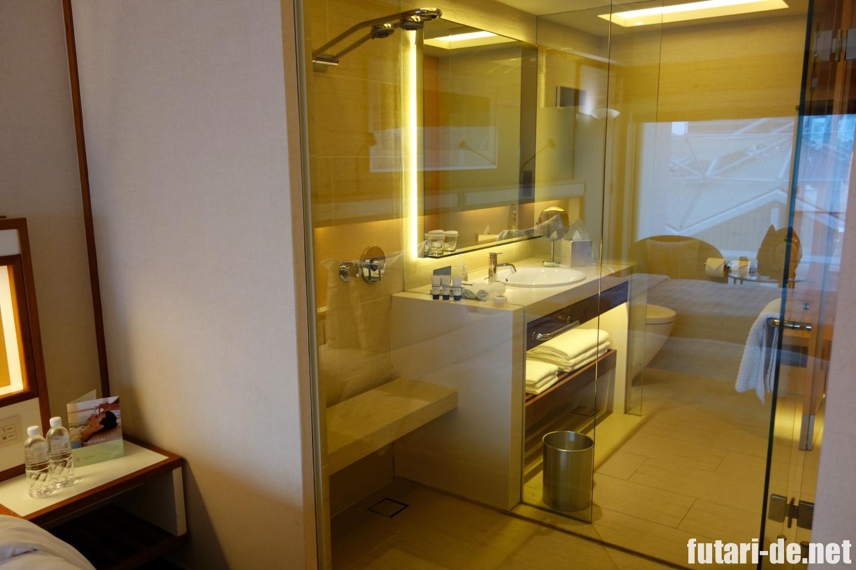 シンガポール パンパシフィックホテル シャワー