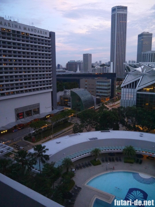 シンガポール パンパシフィックホテル 窓からの景色