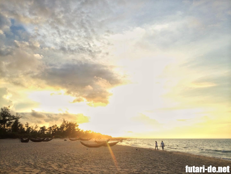 ベトナム フエ 夕陽 プライベートビーチ アナマンダラフエ