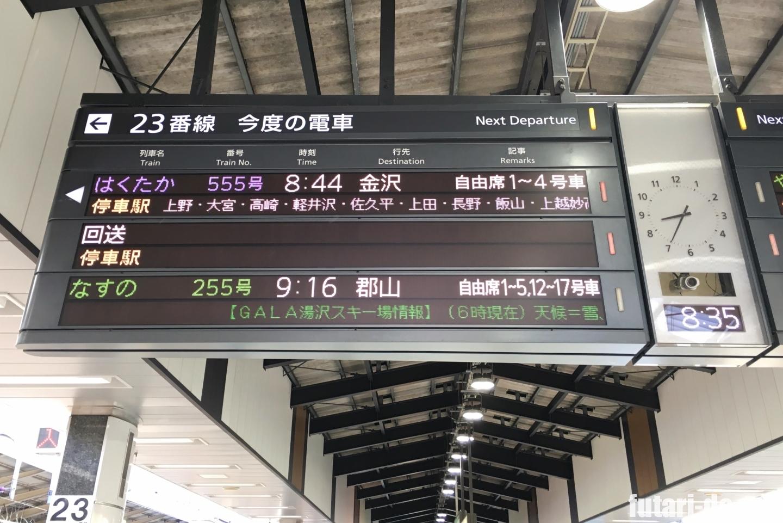 東京駅 北陸新幹線 はくたか 555号