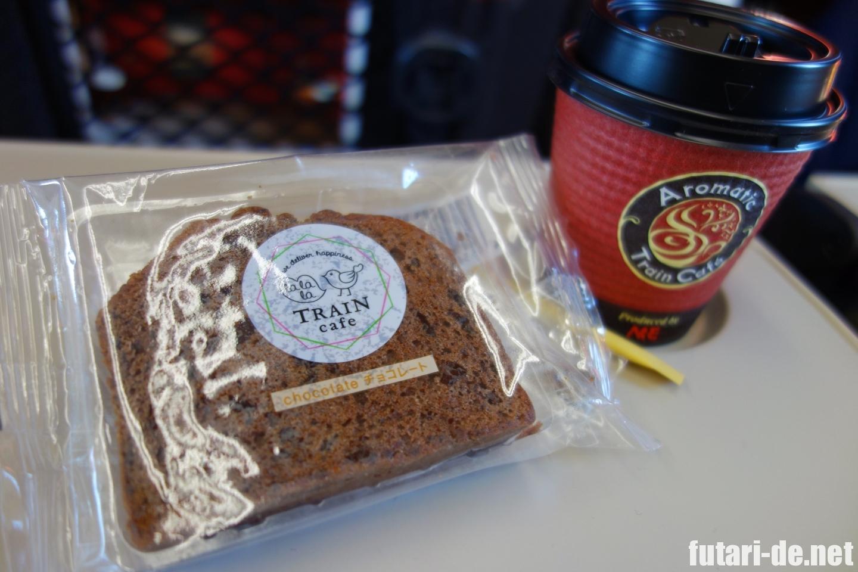 北陸新幹線 はくたか 555号 車内販売 コーヒー