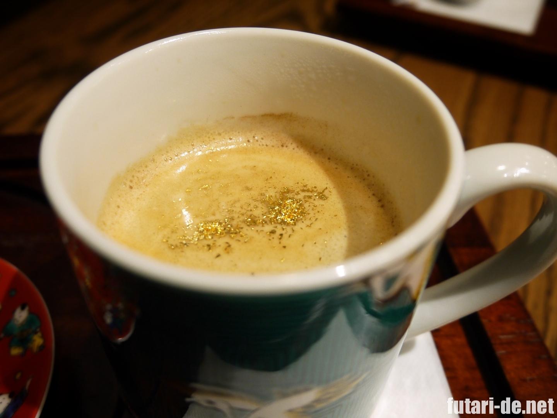 石川県 金沢 金沢文豪カフェ あんず 金箔コーヒー