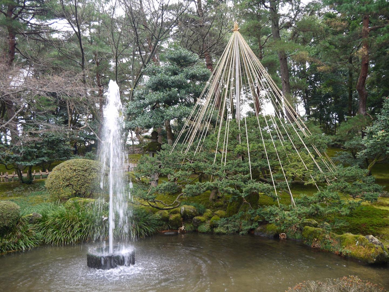 石川県 金沢 兼六園 噴水