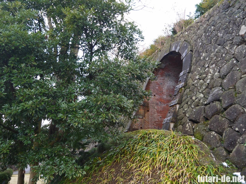 石川県 金沢 金沢城 金沢城公園 レンガ造りのトンネル