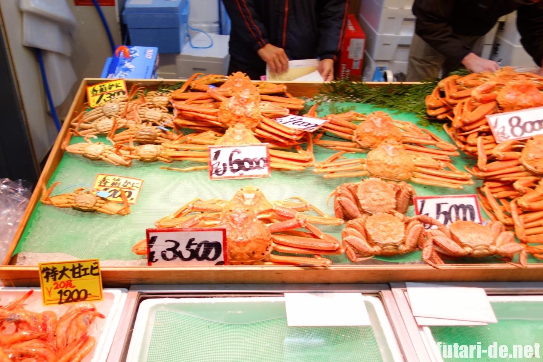 石川県 金沢 近江町市場 蟹