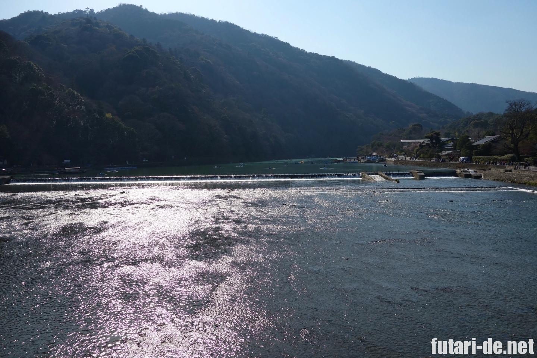 京都府 京都 嵐山 渡月橋 桂川