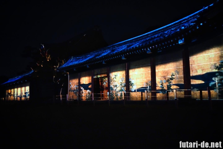 京都府 京都 二条城 100名城 唐門 ライトアップ