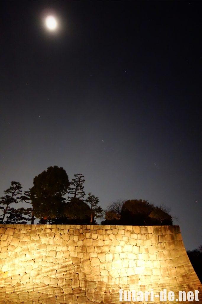 京都府 京都 二条城 100名城 内堀 ライトアップ