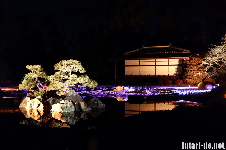 京都府 京都 二条城 100名城 清流園 ライトアップ