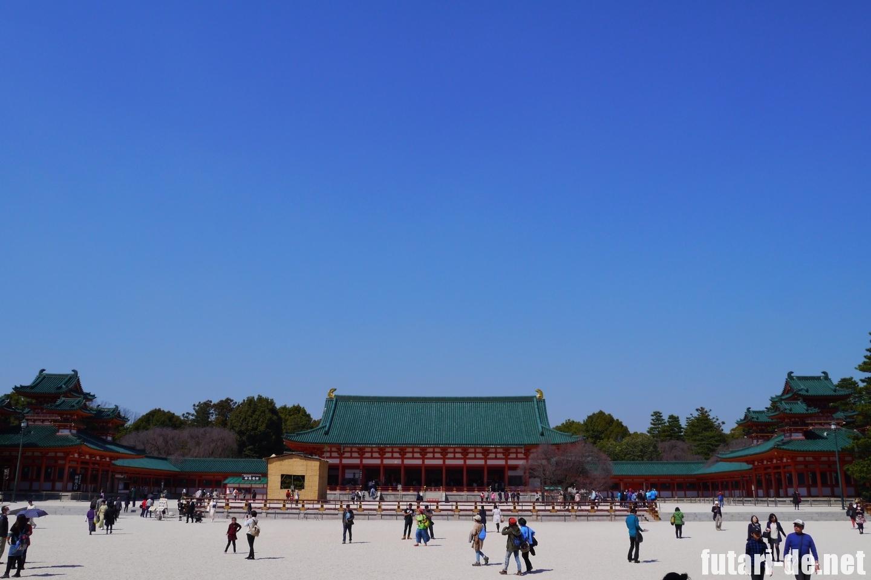 京都府 京都 平安神宮 外拝殿 白虎楼 蒼龍楼