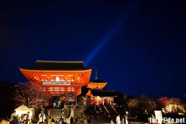 京都府 京都 清水寺 仁王門 夜の特別拝観