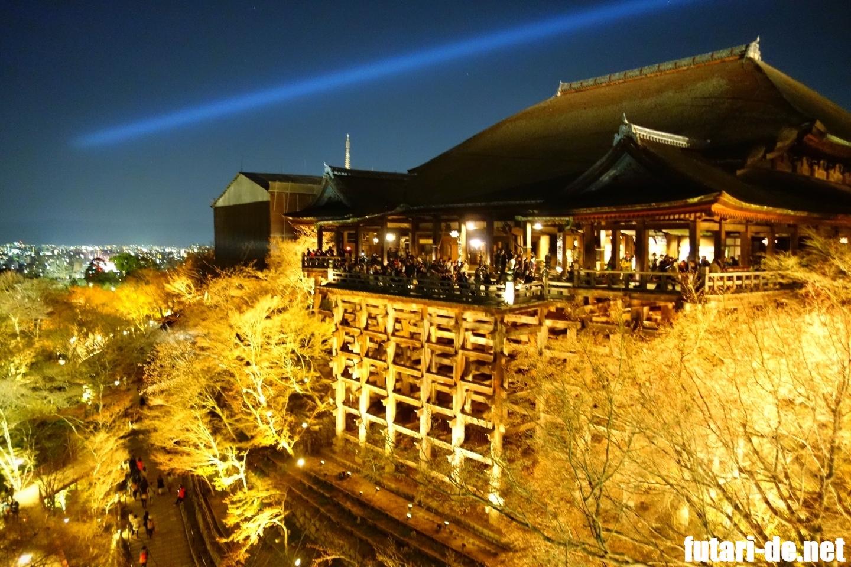 京都府 京都 清水寺 舞台 夜の特別拝観