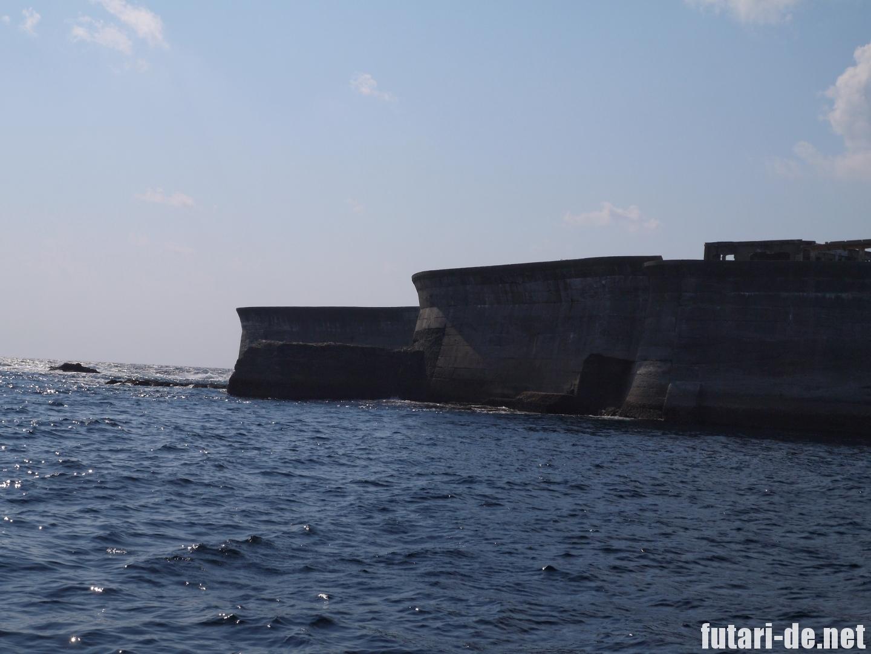 長崎県 長崎市 軍艦島 端島 世界遺産 護岸堤防