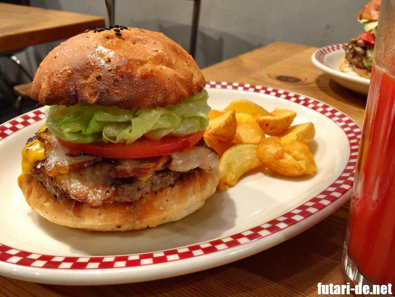 東京 三田 芝公園 MUNCH'S BURGER SHACK マンチズバーガー・シャック ベーコンチーズハンバーガー