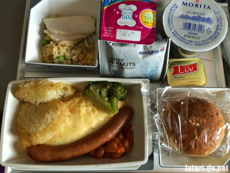 マレーシア航空 コタキナバル行 MH81 B737-800 機内食