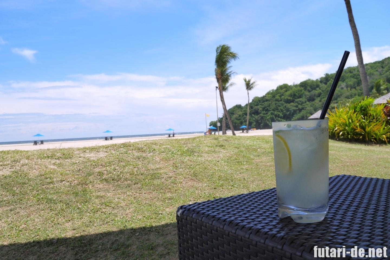 マレーシア コタキナバル シャングリララサリア ビーチ レモネード