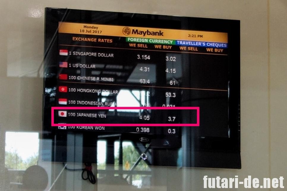 マレーシア コタキナバル国際空港 両替 MayBank