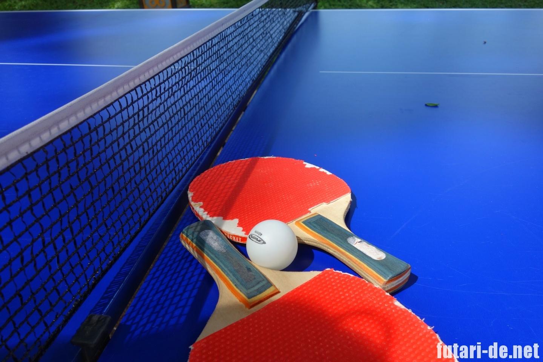 マレーシア コタキナバル シャングリララサリア プールサイド 卓球台