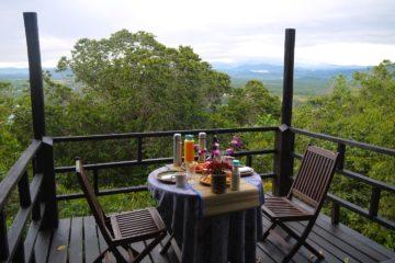 マレーシア コタキナバル シャングリララサリア 自然保護区 朝食