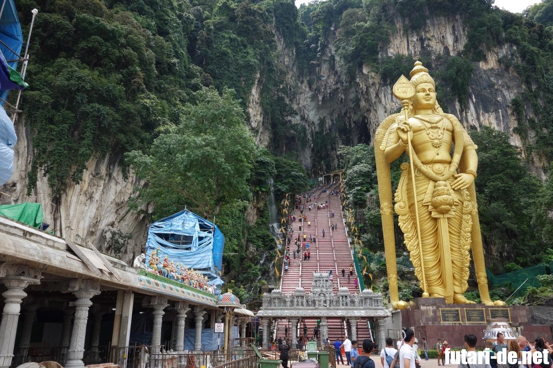 マレーシア バトゥ洞窟 バトゥケイブ ムルガン