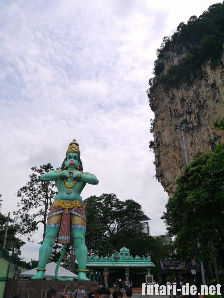 マレーシア バトゥ洞窟 ラマヤナ洞窟 ハヌマーン