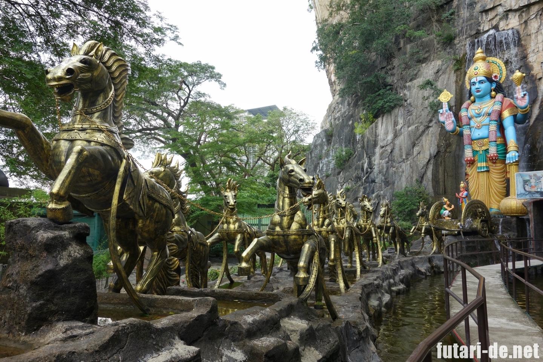 マレーシア バトゥ洞窟 ラマヤナ洞窟 ビシュヌ神