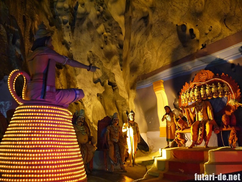 マレーシア バトゥ洞窟 ラマヤナ洞窟 ラーマヤーナ ハヌマーン
