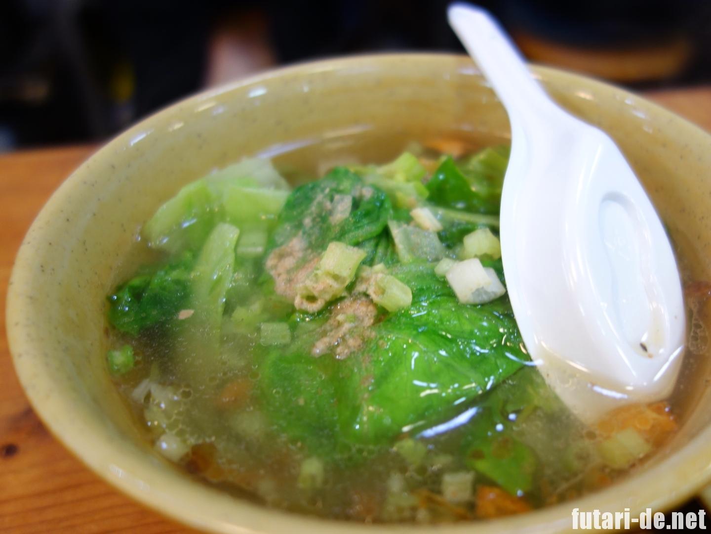 湾 台北 西門 天天利美食坊 青菜湯