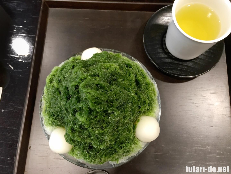 東京 銀座 とらや 虎屋菓寮 銀座店 かき氷 宇治金時