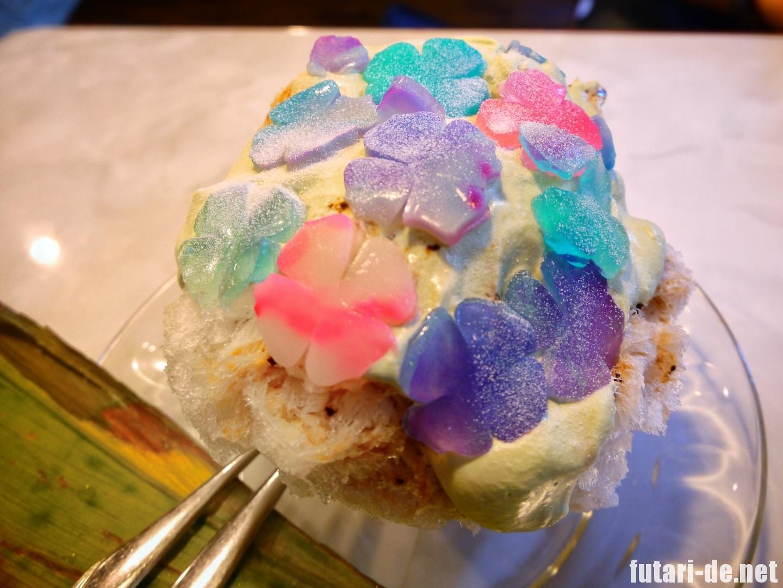東京 北品川 かき氷 いちょうの木 紫陽花