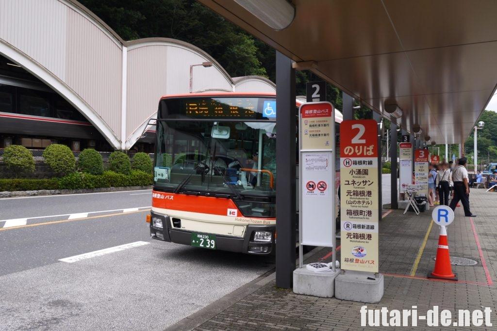 箱根 箱根湯本駅 バスターミナル