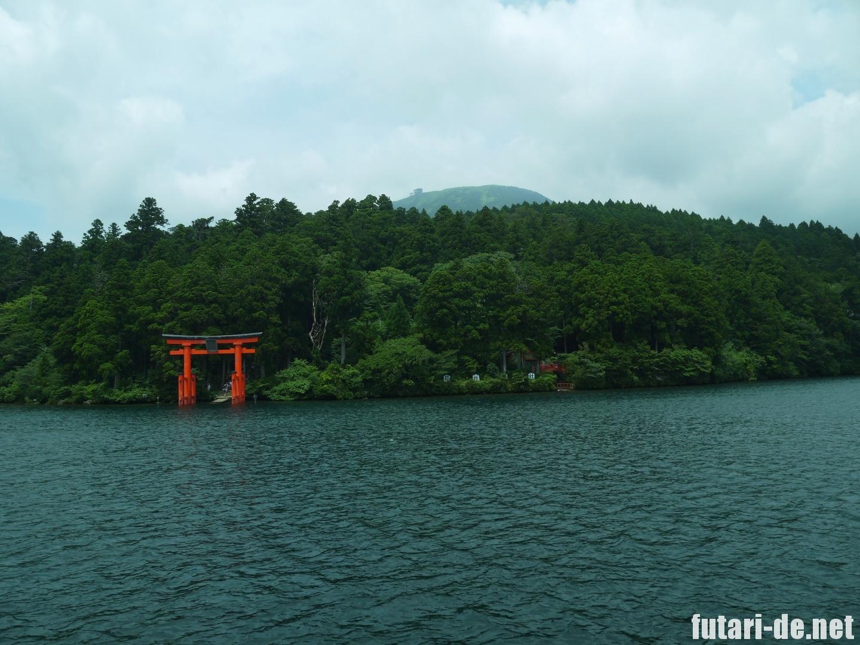 箱根 芦ノ湖 箱根神社 平和の鳥居 芦ノ湖