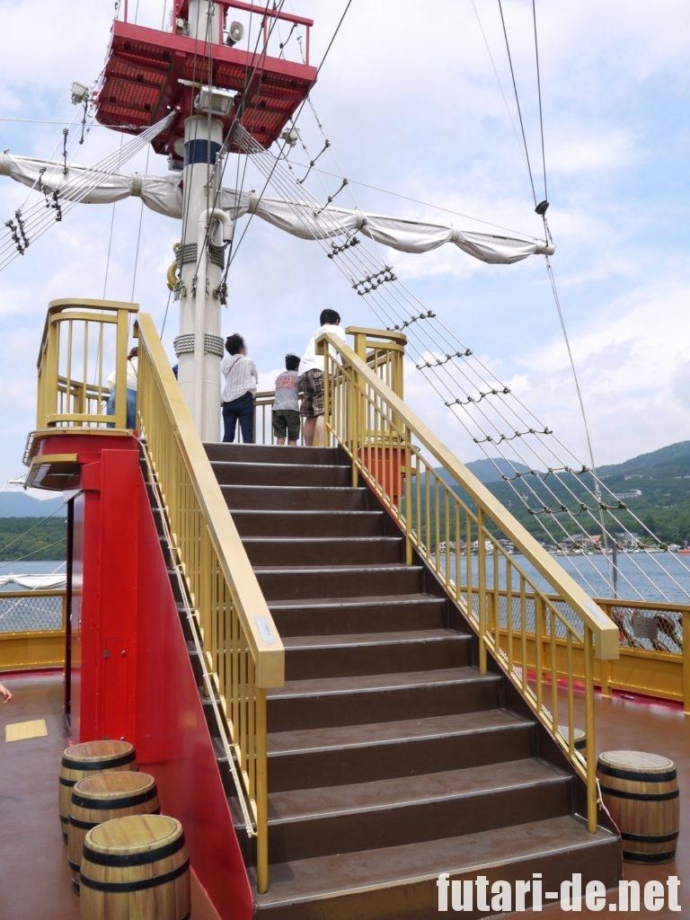 箱根 芦ノ湖 海賊船 ロイヤルⅡ 特別船室