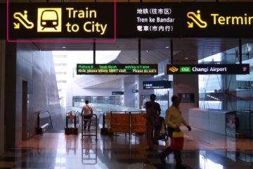 シンガポール チャンギ国際空港 電車 SMRT 市内移動